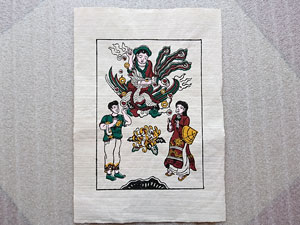 Tranh giấy Bà Nguyệt Se Duyên 26cm x 37cm - TG077-2