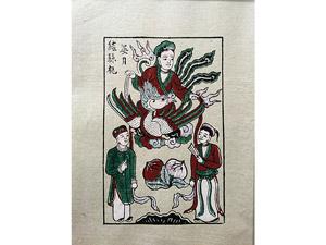 Tranh giấy Bà Nguyệt Se Duyên 26cm x 37cm - TG077