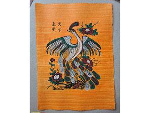 Tranh giấy đông hồ Chim Công - Thiên Hạ Thái Bình 26cm x 37cm - TG083