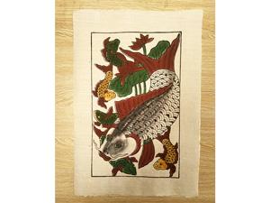 Tranh giấy đông hồ Cá Đàn - Cá Chép 26cm x 37cm - TG043
