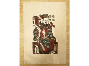 Tranh giấy đông hồ Tiền Lộc 26cm x 37cm - TG036